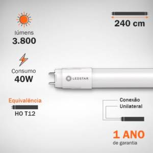 Lâmpada LED Tubular HO 40W