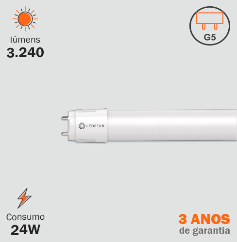 Lâmpada T5 LED 24W Tubular
