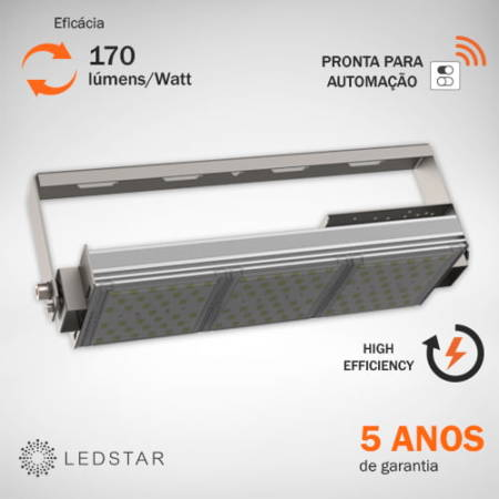 Luminária High Bay 170 Luméns Watt Apagada