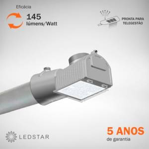 Luminária Pública LEDSTAR Street Light Mini 145 lumens Watt