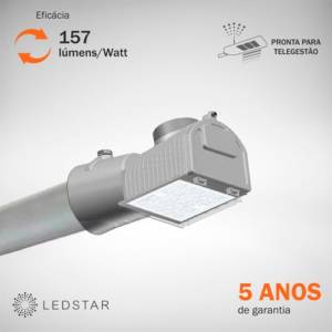 Luminária Pública LEDSTAR Street Light Mini 157 lumens Watt