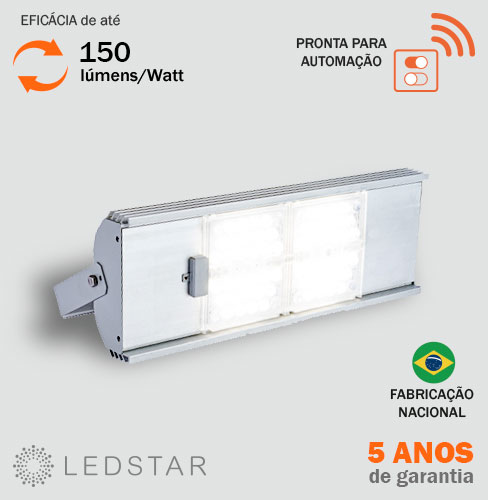 Luminária Industrial LED High Bay v8 150 lúmens watt